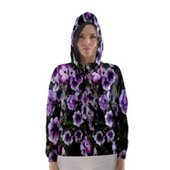 Flowers Blossom Bloom Plant Nature Hooded Wind Breaker (Women)
