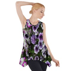 Flowers Blossom Bloom Plant Nature Side Drop Tank Tunic