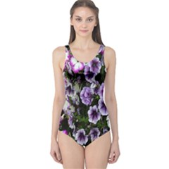Flowers Blossom Bloom Plant Nature One Piece Swimsuit