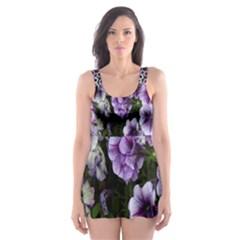 Flowers Blossom Bloom Plant Nature Skater Dress Swimsuit