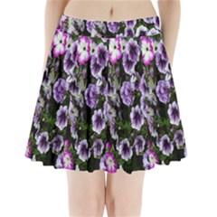 Flowers Blossom Bloom Plant Nature Pleated Mini Skirt