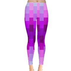 Geometric Cubes Pink Purple Blue Leggings