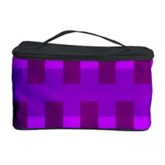 Geometric Cubes Pink Purple Blue Cosmetic Storage Case