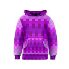 Geometric Cubes Pink Purple Blue Kids  Pullover Hoodie