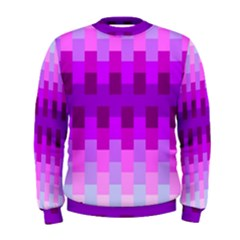 Geometric Cubes Pink Purple Blue Men s Sweatshirt
