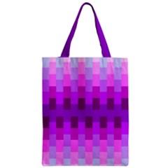 Geometric Cubes Pink Purple Blue Zipper Classic Tote Bag