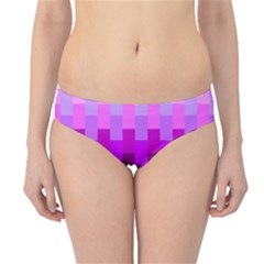 Geometric Cubes Pink Purple Blue Hipster Bikini Bottoms