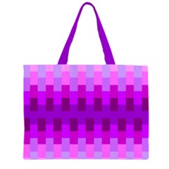 Geometric Cubes Pink Purple Blue Large Tote Bag