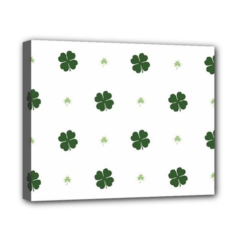 Green Leaf Canvas 10  x 8