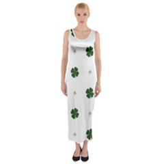Green Leaf Fitted Maxi Dress