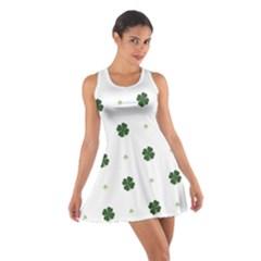 Green Leaf Cotton Racerback Dress