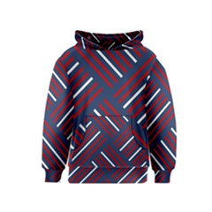 Geometric Background Stripes Red White Kids  Pullover Hoodie