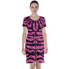 SKN2 BK-PK MARBLE (R) Short Sleeve Nightdress