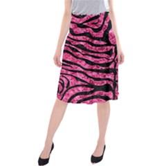 SKN2 BK-PK MARBLE (R) Midi Beach Skirt