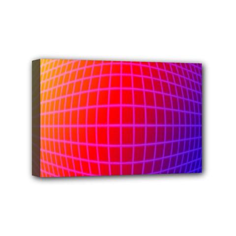 Grid Diamonds Figure Abstract Mini Canvas 6  x 4