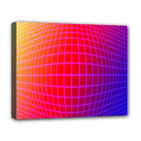 Grid Diamonds Figure Abstract Deluxe Canvas 20  x 16