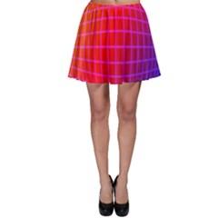 Grid Diamonds Figure Abstract Skater Skirt