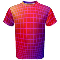 Grid Diamonds Figure Abstract Men s Cotton Tee
