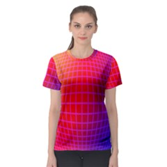 Grid Diamonds Figure Abstract Women s Sport Mesh Tee