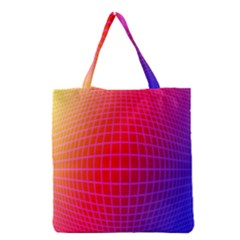 Grid Diamonds Figure Abstract Grocery Tote Bag