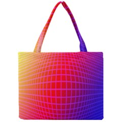 Grid Diamonds Figure Abstract Mini Tote Bag