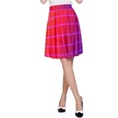 Grid Diamonds Figure Abstract A-Line Skirt