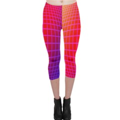 Grid Diamonds Figure Abstract Capri Leggings