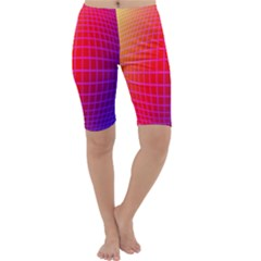 Grid Diamonds Figure Abstract Cropped Leggings
