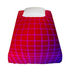 Grid Diamonds Figure Abstract Fitted Sheet (Single Size)