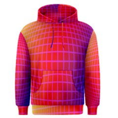Grid Diamonds Figure Abstract Men s Pullover Hoodie