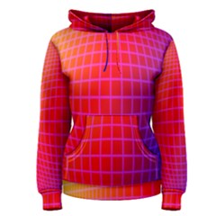 Grid Diamonds Figure Abstract Women s Pullover Hoodie
