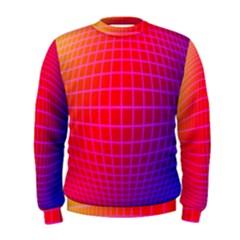 Grid Diamonds Figure Abstract Men s Sweatshirt