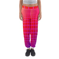 Grid Diamonds Figure Abstract Women s Jogger Sweatpants