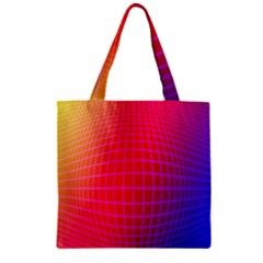 Grid Diamonds Figure Abstract Zipper Grocery Tote Bag