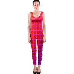 Grid Diamonds Figure Abstract OnePiece Catsuit
