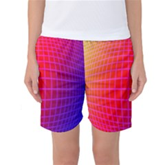 Grid Diamonds Figure Abstract Women s Basketball Shorts