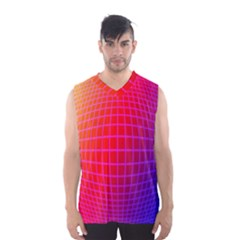 Grid Diamonds Figure Abstract Men s Basketball Tank Top