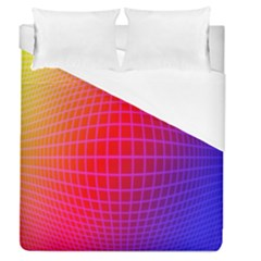 Grid Diamonds Figure Abstract Duvet Cover (Queen Size)