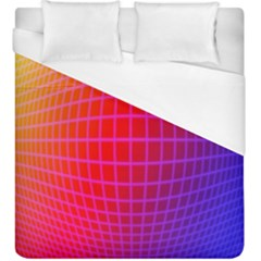 Grid Diamonds Figure Abstract Duvet Cover (King Size)