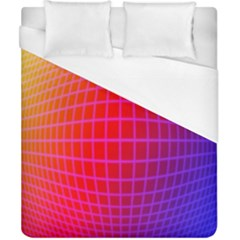 Grid Diamonds Figure Abstract Duvet Cover (California King Size)