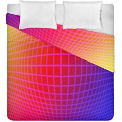 Grid Diamonds Figure Abstract Duvet Cover Double Side (King Size)