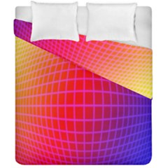 Grid Diamonds Figure Abstract Duvet Cover Double Side (California King Size)