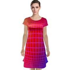 Grid Diamonds Figure Abstract Cap Sleeve Nightdress