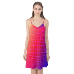 Grid Diamonds Figure Abstract Camis Nightgown