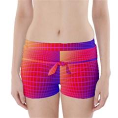 Grid Diamonds Figure Abstract Boyleg Bikini Wrap Bottoms