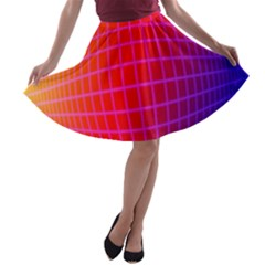 Grid Diamonds Figure Abstract A-line Skater Skirt