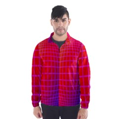Grid Diamonds Figure Abstract Wind Breaker (Men)