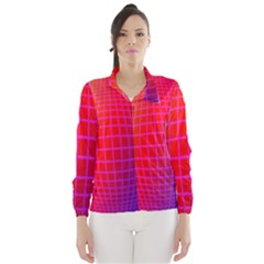 Grid Diamonds Figure Abstract Wind Breaker (Women)