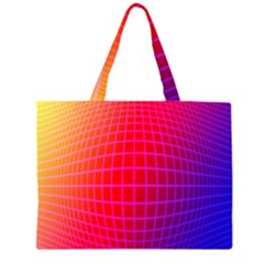 Grid Diamonds Figure Abstract Large Tote Bag