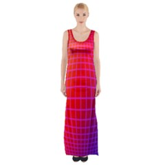 Grid Diamonds Figure Abstract Maxi Thigh Split Dress